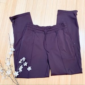 Lululemon brown pants with zippered ankles, 8.